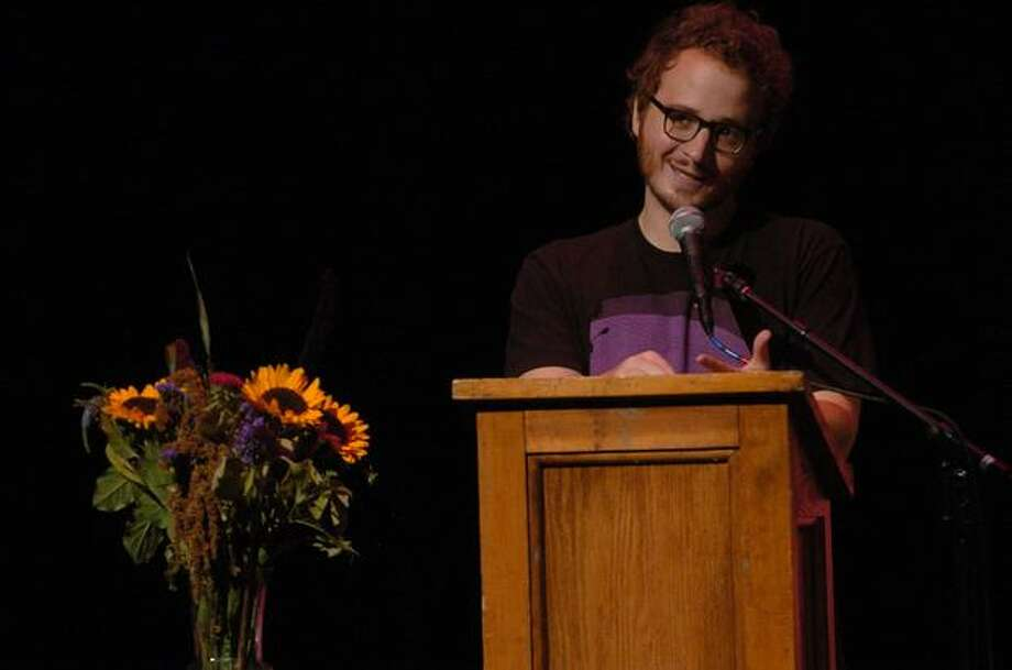 "Christian Lander, creator of the Web site Stuff White People Like, speaks to the crowd at the Leonard K. Theater on day 2 of Bumbershoot in Seattle. Lander stated that ""white people have a need to like things."" Photo: Daniel Berman, Seattlepi.com"