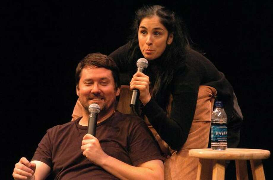 Comedian Sarah Silverman performs with Doug Benson in an act called The Benson Interruption. Photo: Daniel Berman, Seattlepi.com