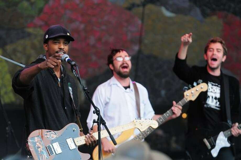 Black Joe Lewis & The Honeybears perform on the Starbucks Stage during Bumbershoot on Monday. Photo: Daniel Berman, Seattlepi.com
