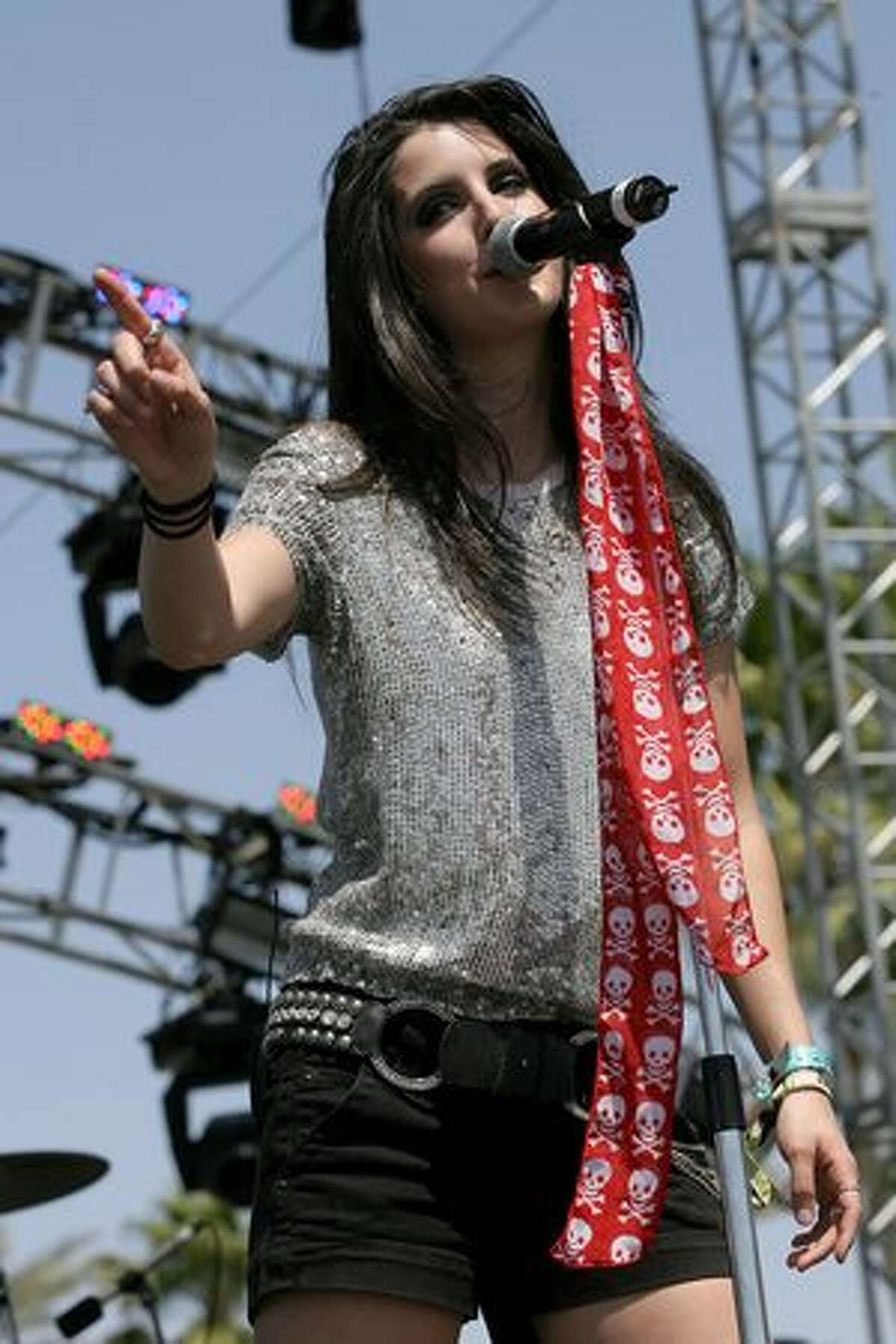 Singer Alana Grace performs during day one of the Coachella Valley Music & Arts Festival 2010 held at the Empire Polo Club in Indio, Calif., on Friday, April 16, 2010.