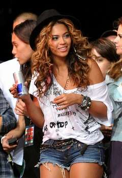 Singer Beyonce Knowles is seen backstage. Photo: Getty Images