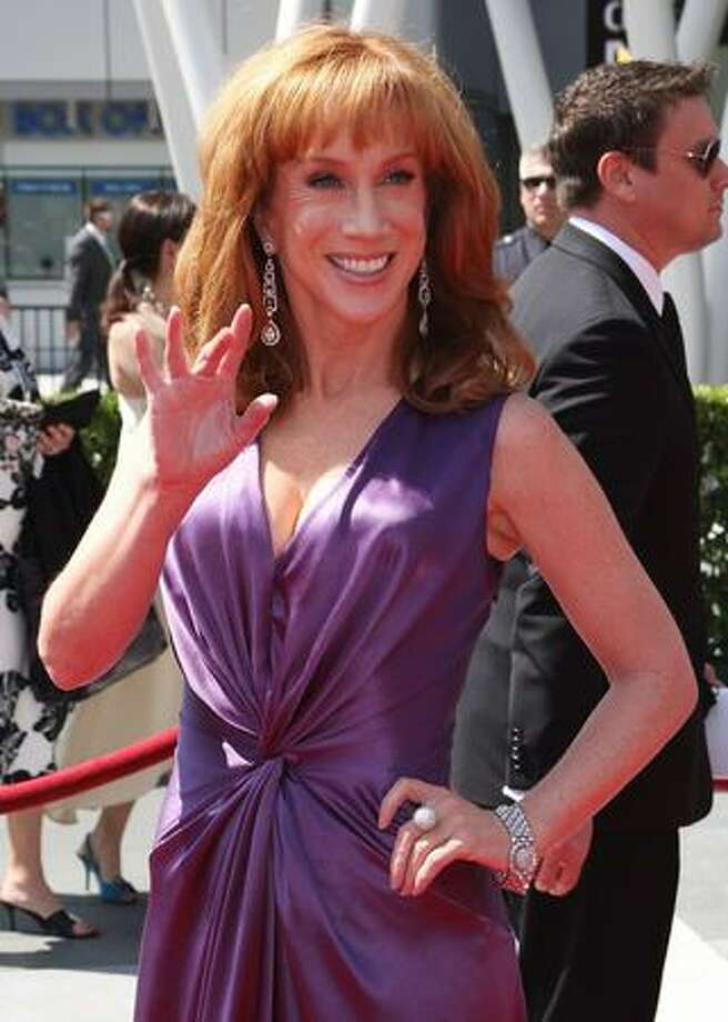 Host Kathy Griffin attends the 2009 Primetime Creative Arts Emmy Awards at the Nokia Theatre L.A. Live in Los Angeles on Saturday, Sept. 12, 2009. Photo: Getty Images