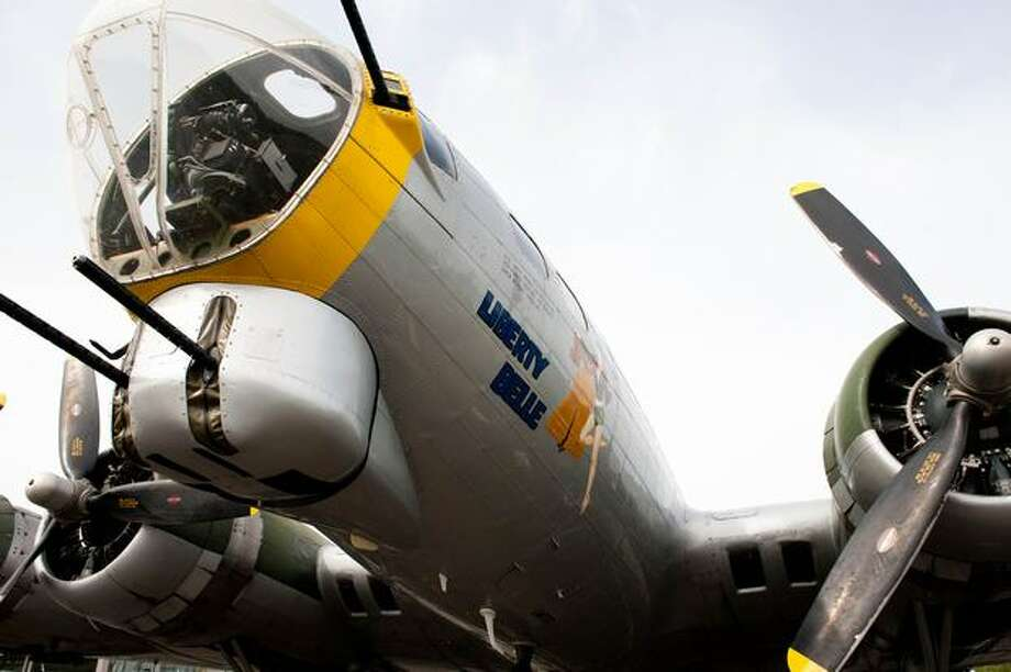 "The Liberty Foundation's restored Boeing B-17 bomber ""Liberty Belle"" at Boeing Field, in Seattle. Photo: Elliot Suhr, Seattlepi.com"
