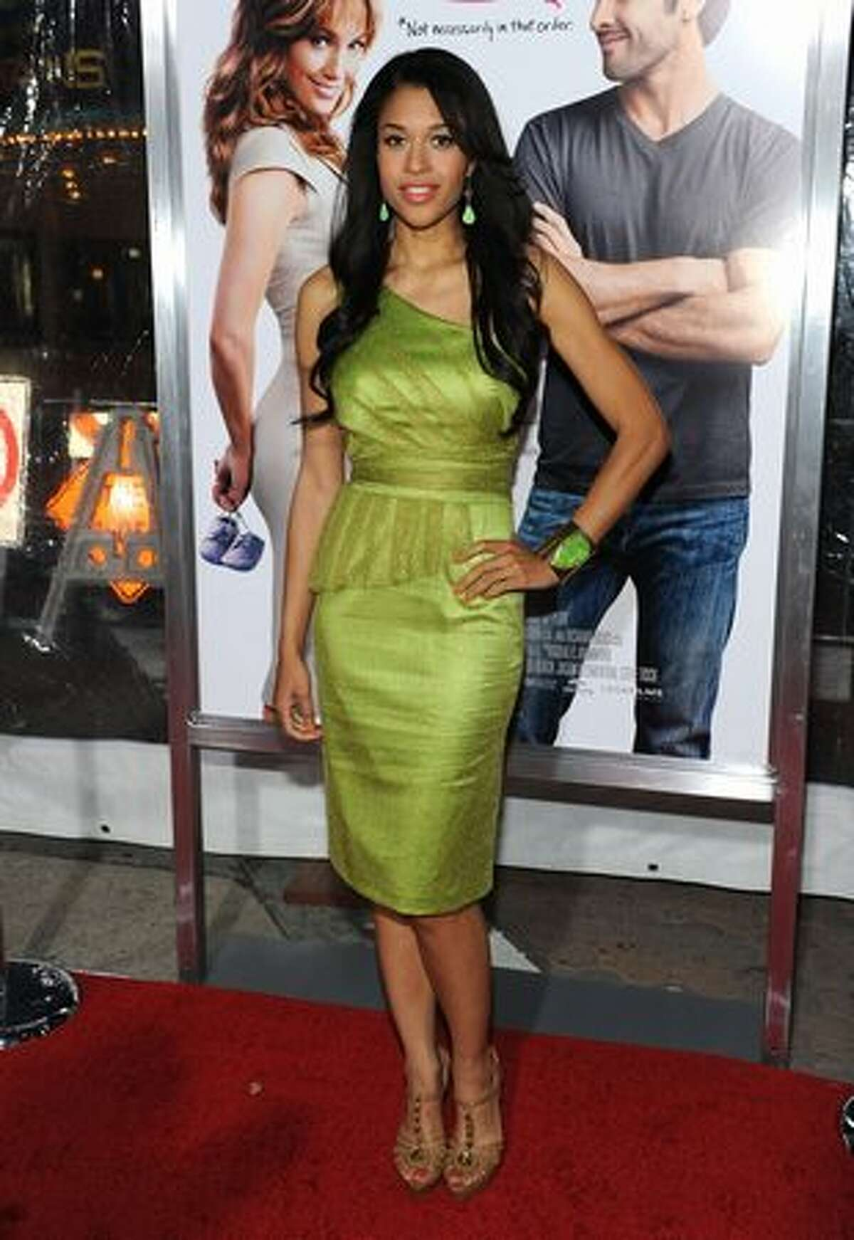 Actress Kali Hawk arrives at the premiere of CBS Films'
