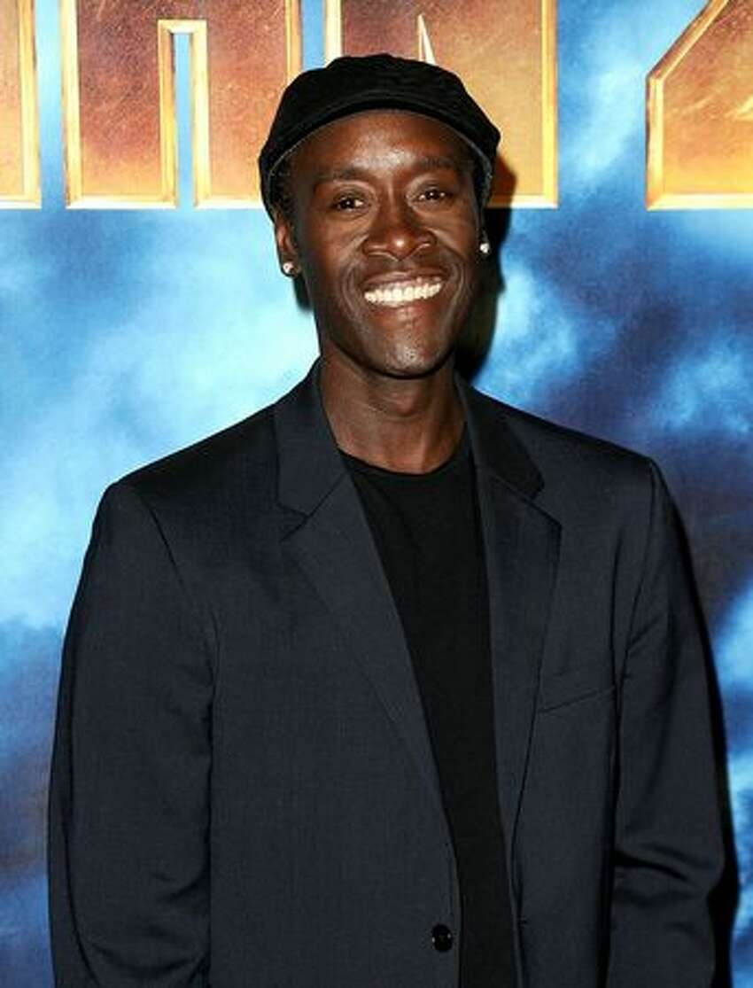 Actor Don Cheadle poses during Paramount Pictures & Marvel Entertainment's