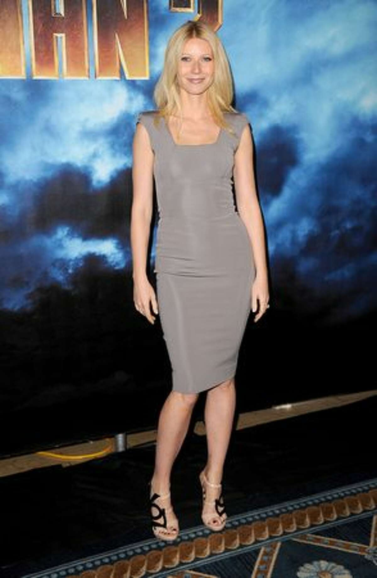 Actress Gwyneth Paltrow poses during Paramount Pictures & Marvel Entertainment's