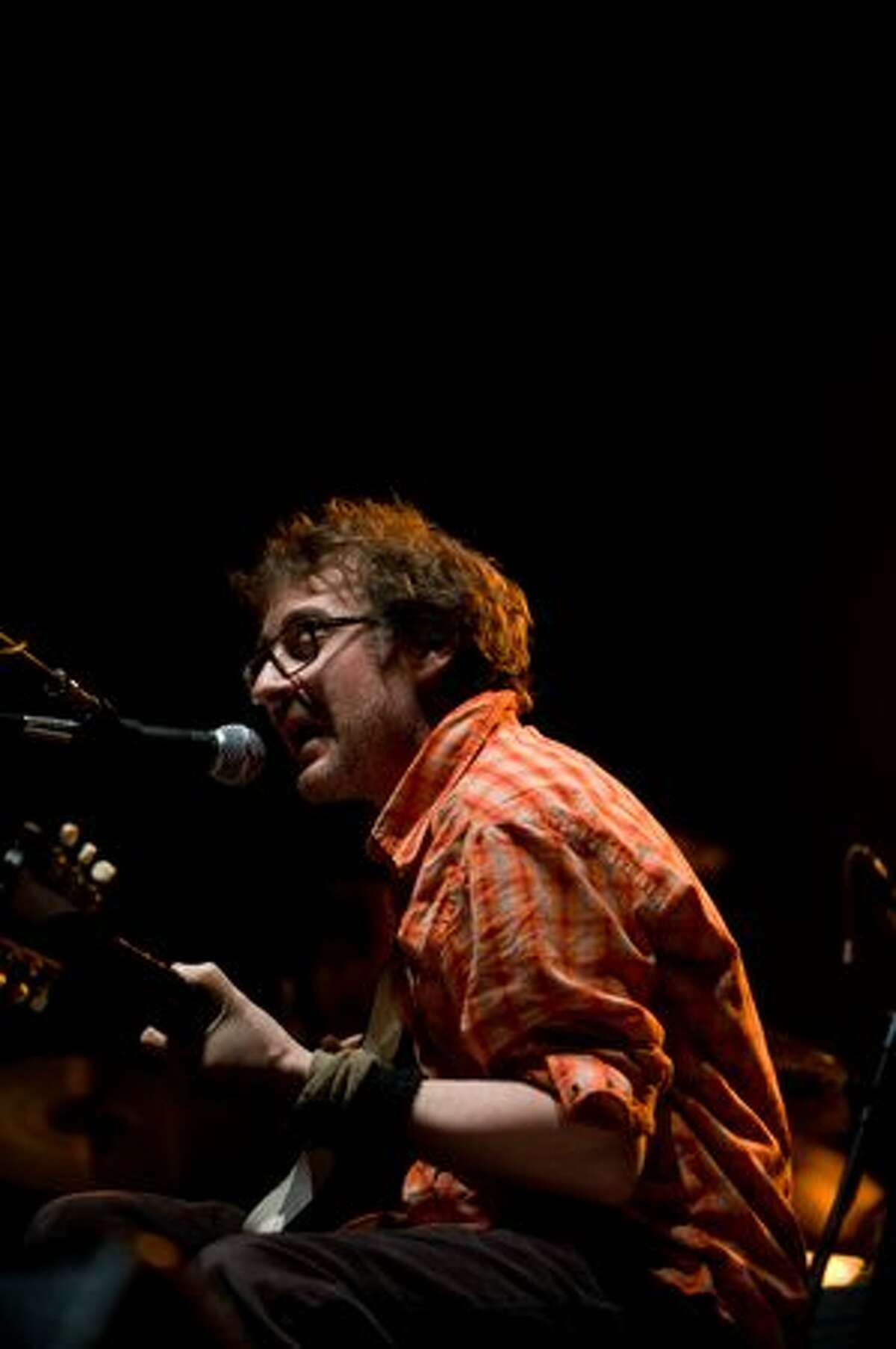 Califone performs on stage at the Paramount Theatre opening for Wilco on Feb. 6, 2010. (Chona Kasinger/seattlepi.com)