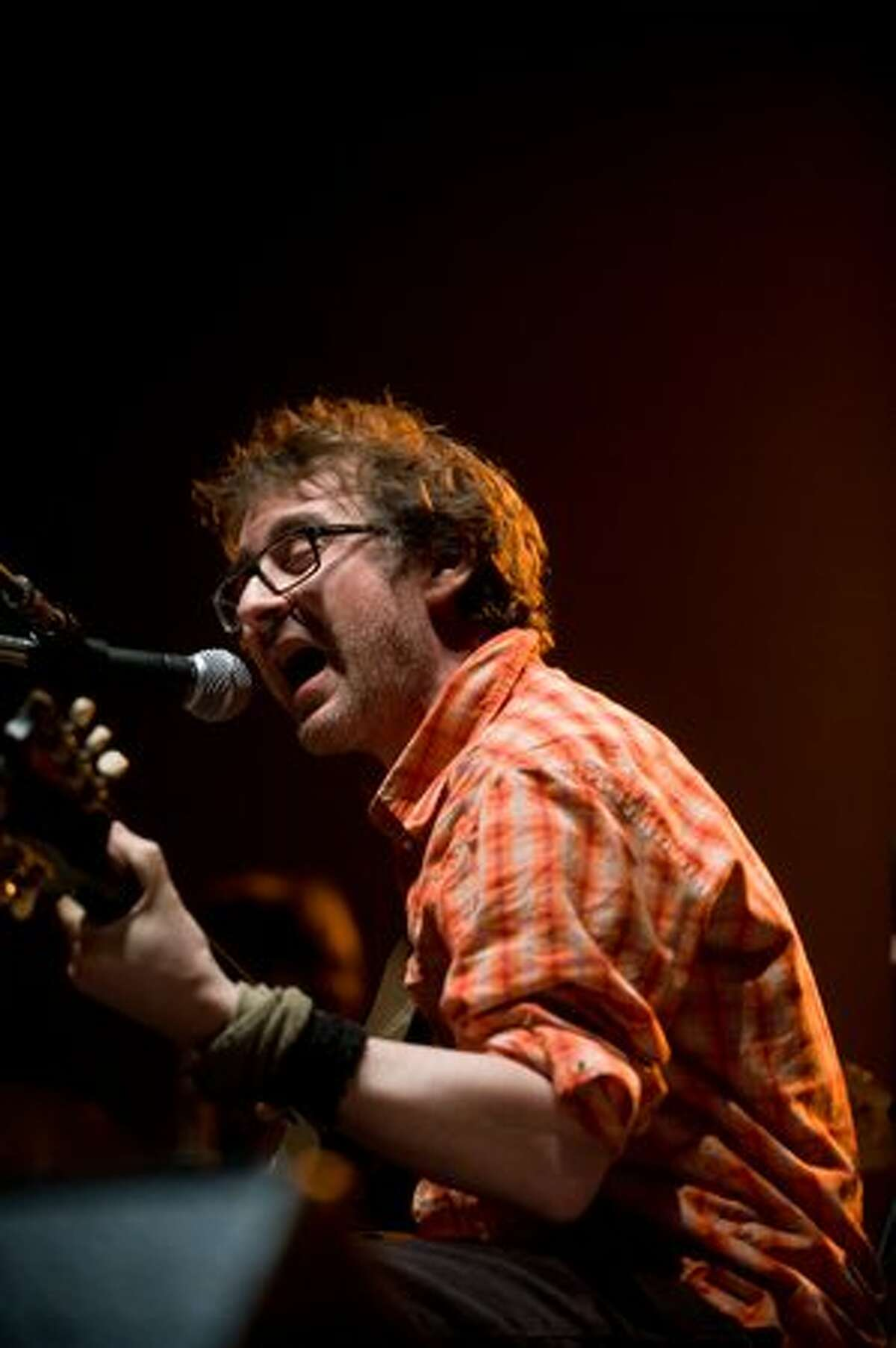 Califone performs on stage at the Paramount Theatre opening for Wilco Wednesday night. (Chona Kasinger/seattlepi.com)