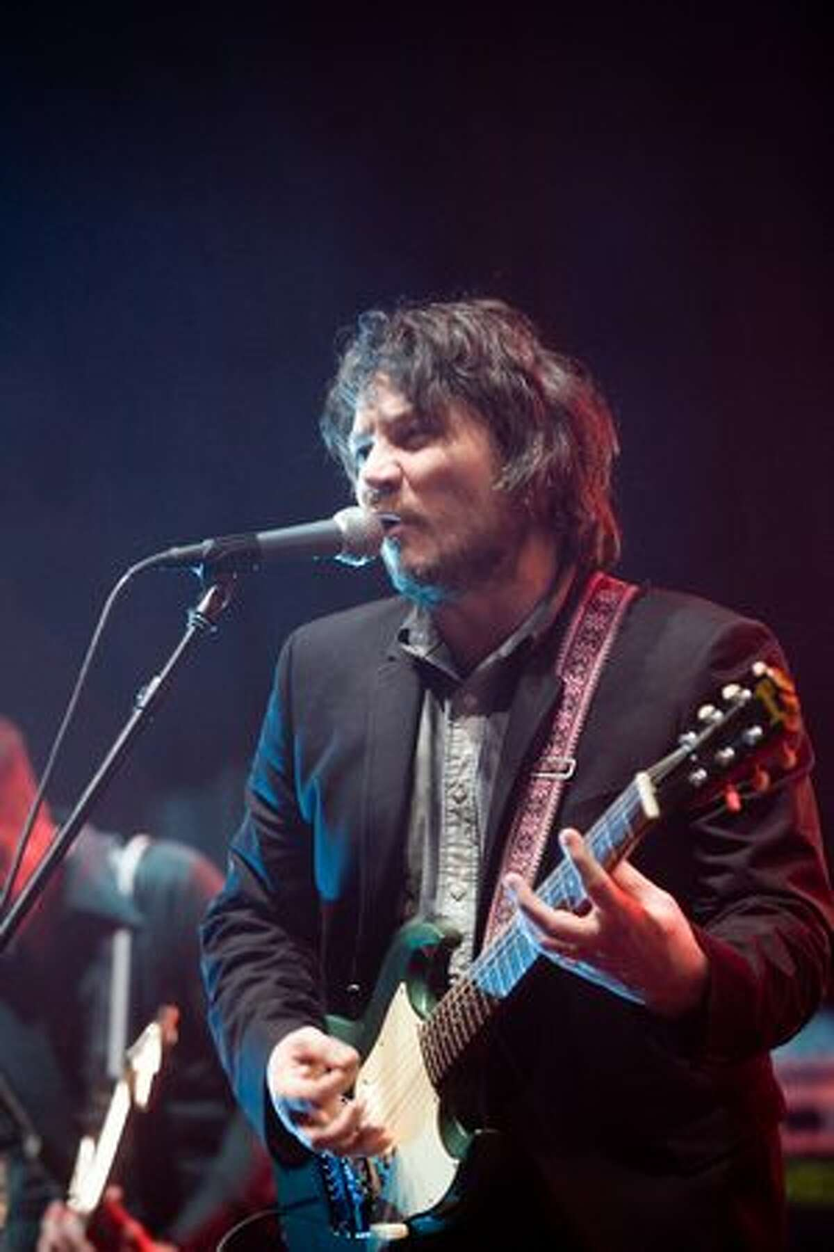 Front man Jeff Tweedy of Wilco performing at the Paramount Theatre on Feb. 10. (Chona Kasinger/seattlepi.com)