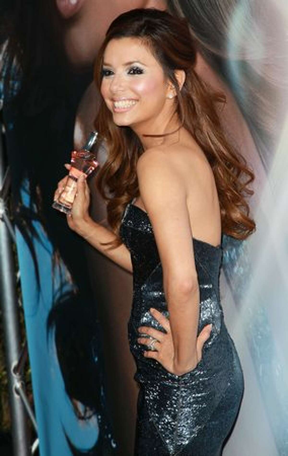 Eva Longoria Parker attends the launch of her fragrance