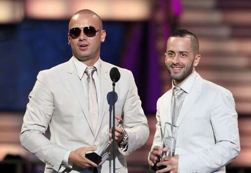Juan Luis Morera Luna and Llandel Veguilla Malavé Salazar of Wisin y Yandel accept an award onstage at the 2010 Billboard Latin Music Awards at Coliseo de Puerto Rico José Miguel Agrelot on April 29, 2010 in San Juan, Puerto Rico. Photo: Getty Images