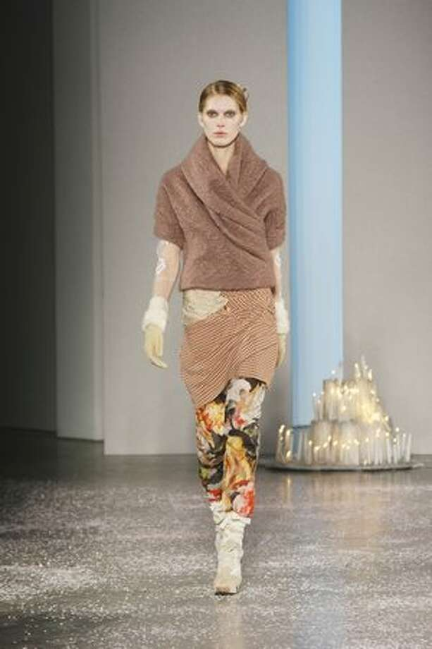 A model walks the runway at the Rodarte Fall 2010 Fashion Show during Mercedes-Benz Fashion Week at 522 West 21st Street in New York on Tuesday, Feb. 16, 2010. Photo: Getty Images