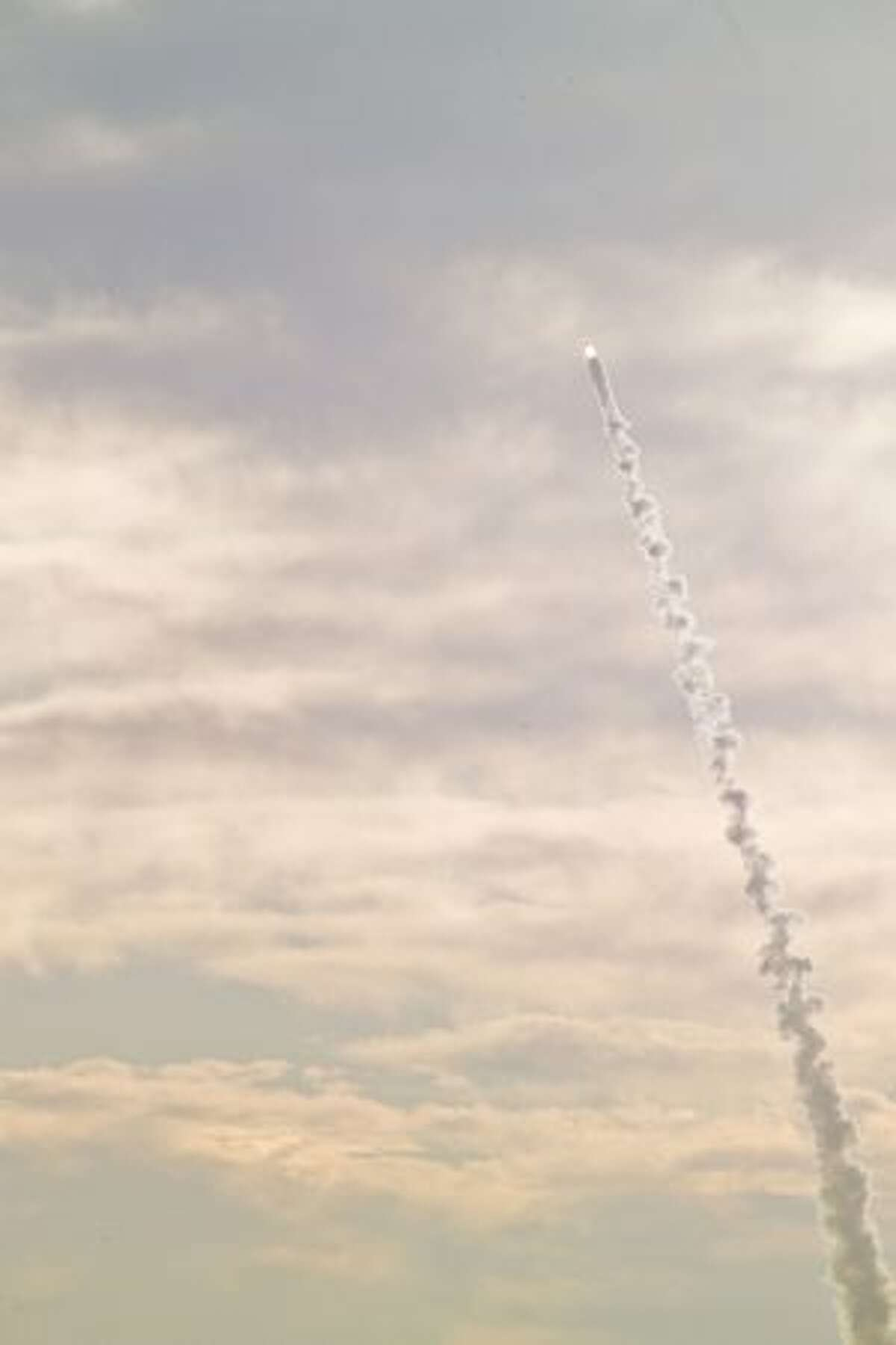 NASA launches its Orion crew module and abort system during a test at White Sands Missile Range, N.M.