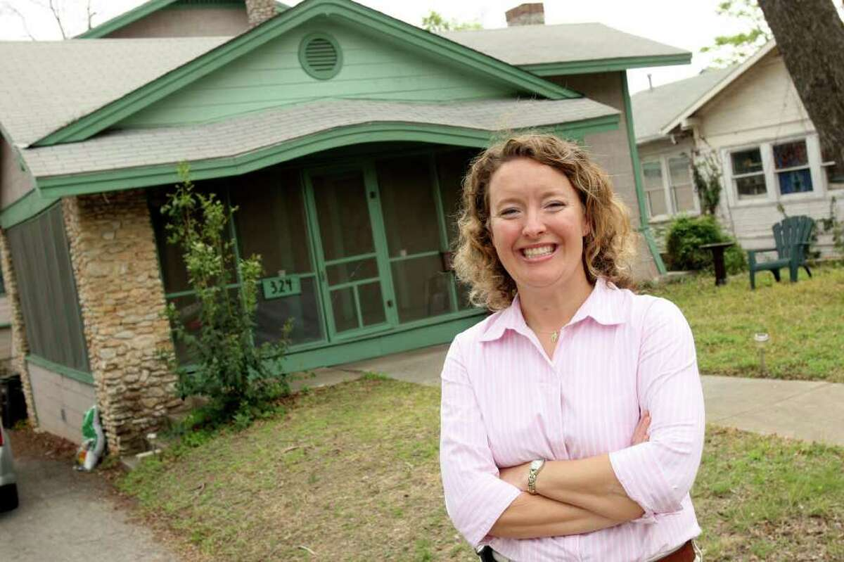 Meggan Partain, president of the Westford Alliance Neighborhood Association, lives in a Craftsman-style bungalow built in 1915.