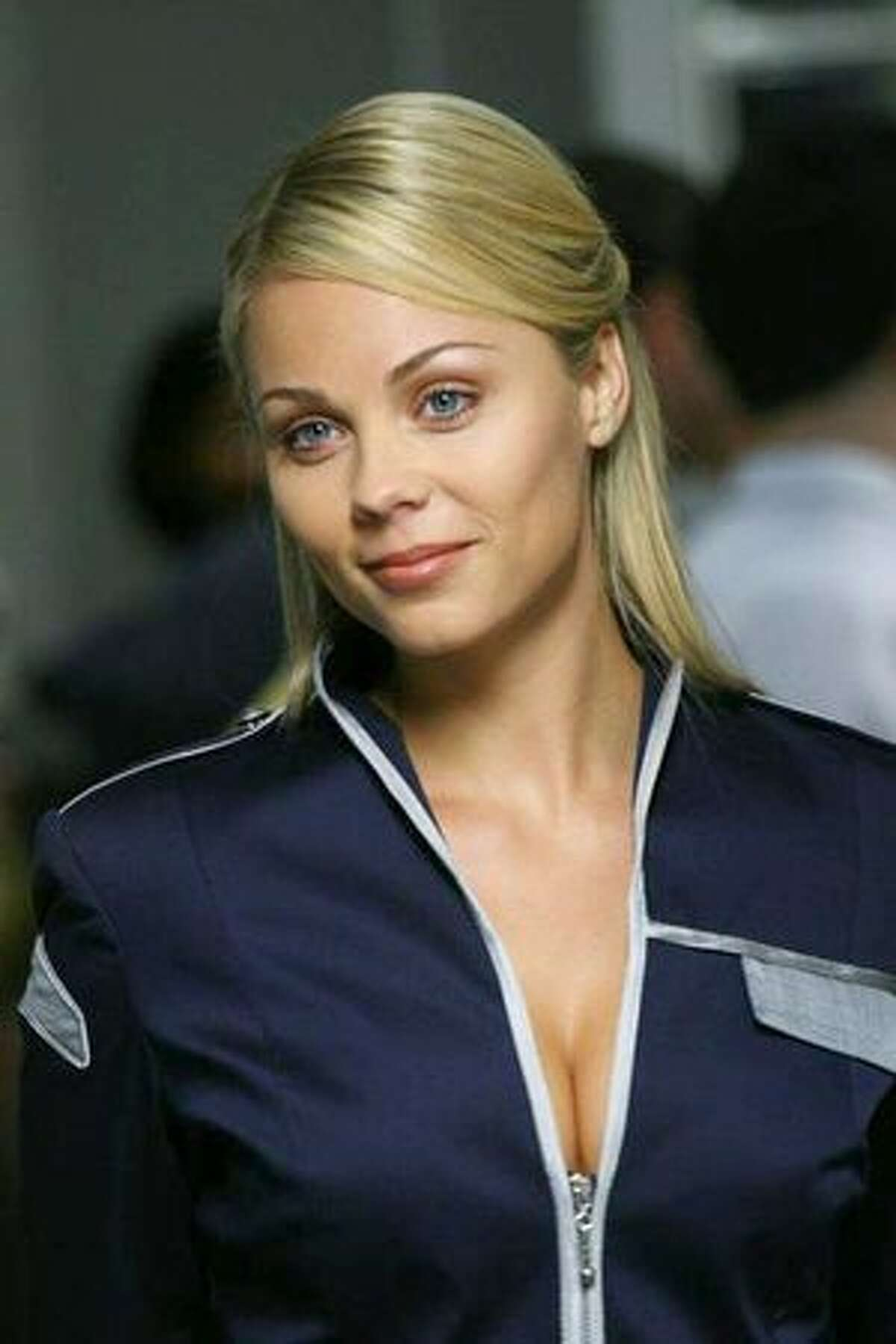 """No. 53: Canadian actress Laura Vandervoort (publicity photo from the TV series """"V,"""" 2009)."""