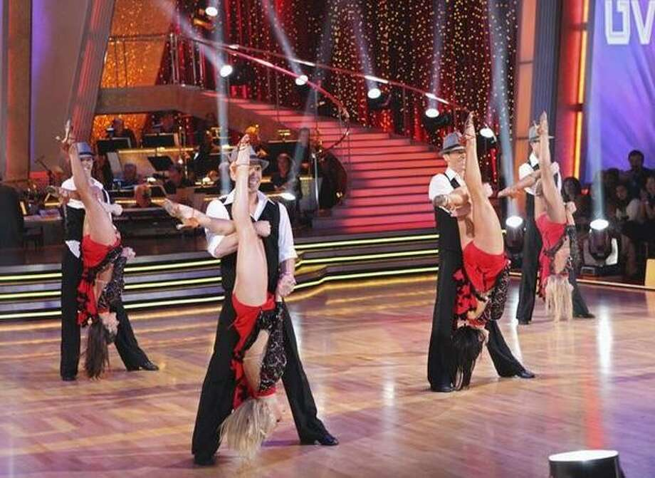 Dancers from Utah Valley compete, dancing a cha cha. They received a score of 29. Photo: ABC / ABC
