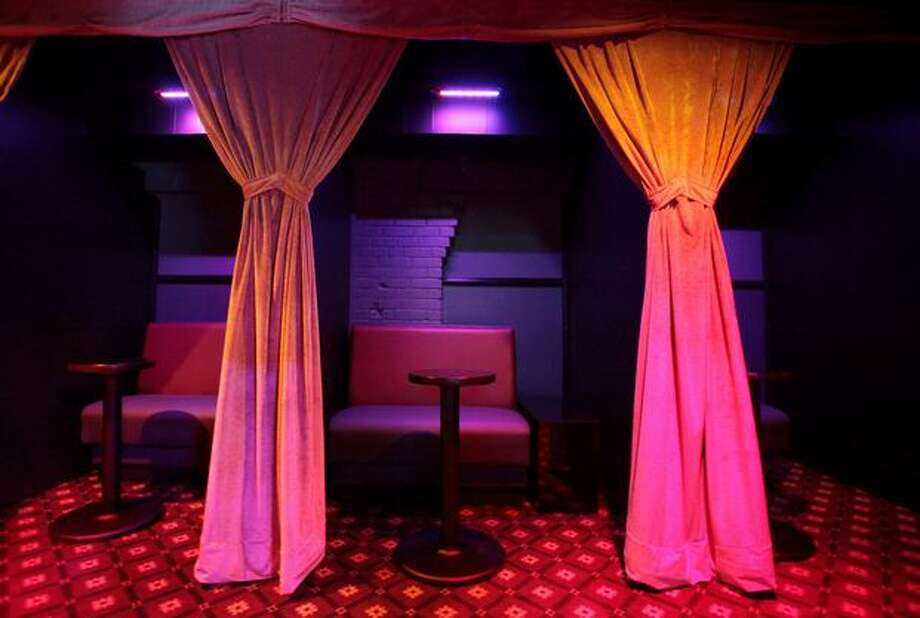 A private booth is shown during a press tour of Dream Girls, the Déjà Vu chain's newest strip club at 1530 First Avenue South, next to Safeco Field. Photo: Joshua Trujillo, Seattlepi.com / seattlepi.com