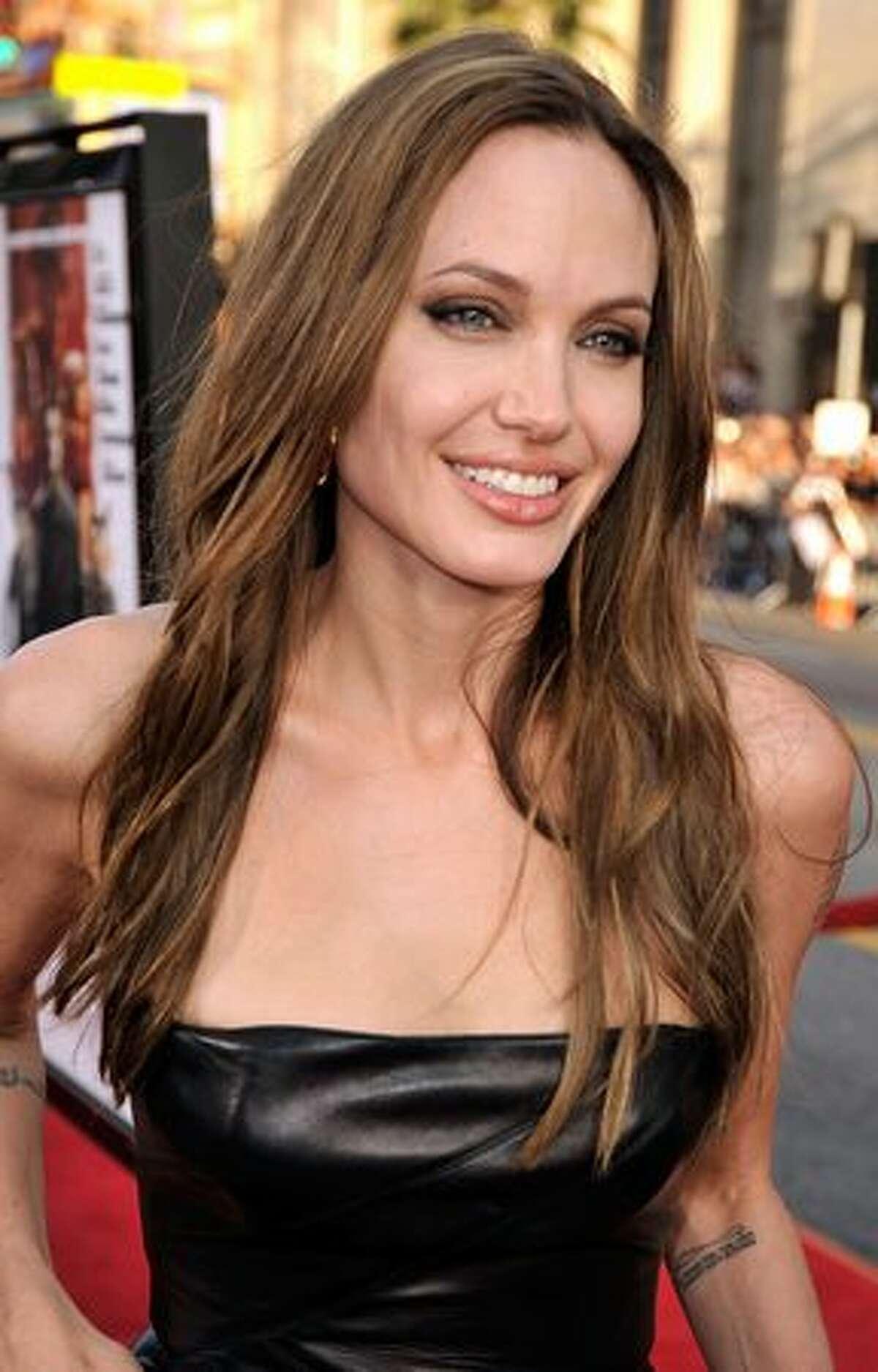 Actress Angelina Jolie, 34.