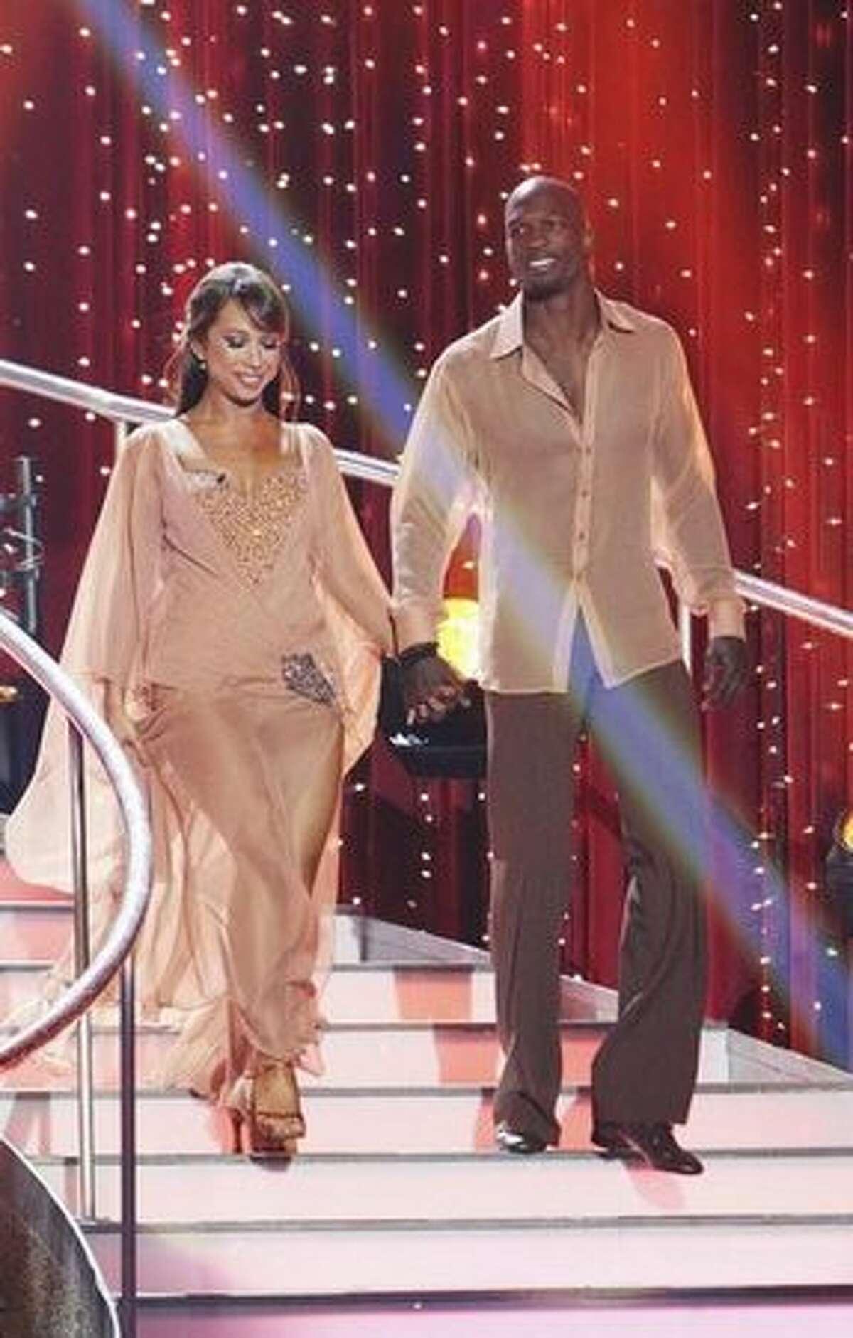 Pro football player Chad Ochocino and his partner, professional dancer Cheryl Burke.