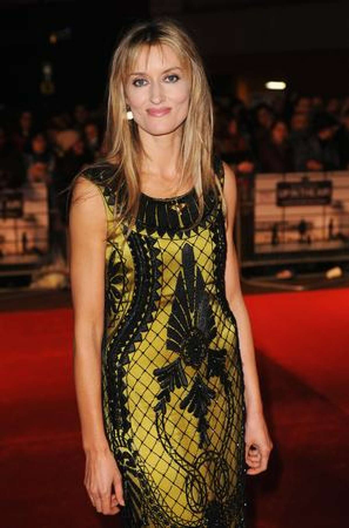 Actress Natascha McElhone arrives for the premiere of 'Up In The Air' during the Times BFI 53rd London Film Festival at the Vue West End in London, England.