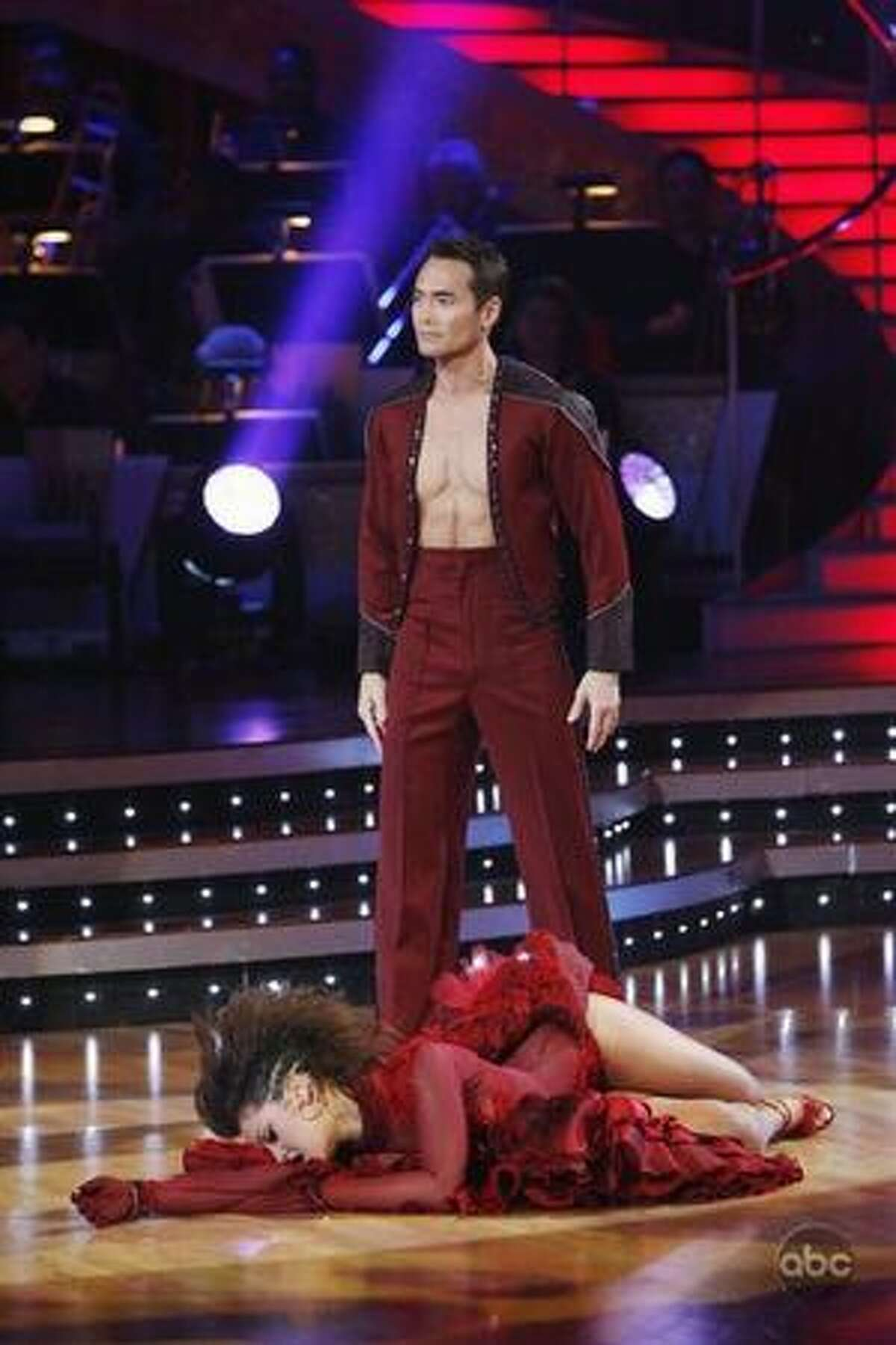 Professional dancer Lacey Schwimmer and actor Mark Dacascos.