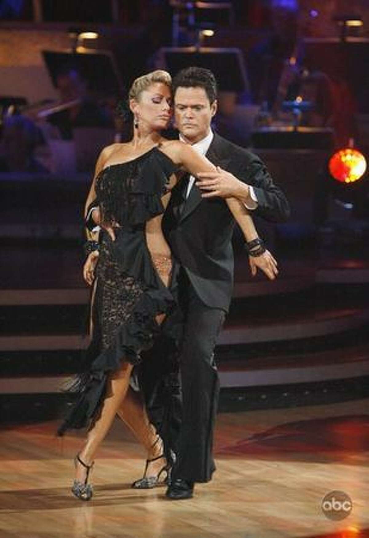 Singer Donny Osmond and professional dancer Kym Johnson.