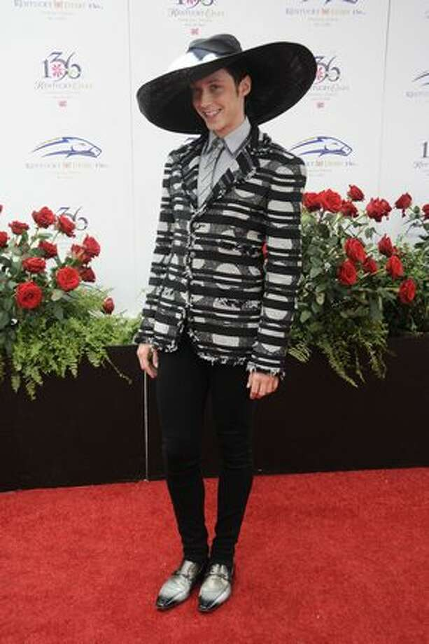Johnny Weir attends the 136th Kentucky Derby in Louisville, Kentucky. Photo: Getty Images