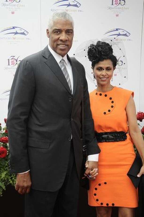 Julius Erving and wife Dorys attends the 136th Kentucky Derby in Louisville, Kentucky. Photo: Getty Images