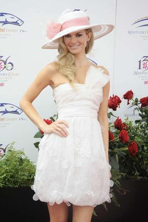 Model Marisa Miller attends the 136th Kentucky Derby in Louisville, Kentucky. Photo: Getty Images