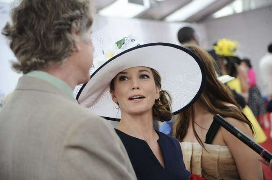 Actress Diane Lane and Director Randell Wallace attend the 136th Kentucky Derby in Louisville, Kentucky. Photo: Getty Images