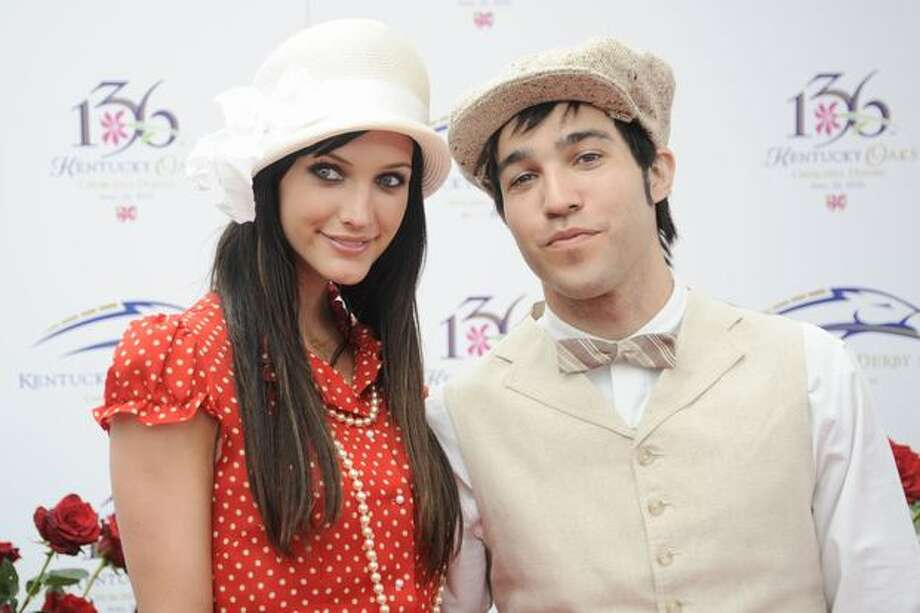 Pete Wentz and Ashlee Simpson-Wentz attend the 136th Kentucky Derby in Louisville, Kentucky. Photo: Getty Images