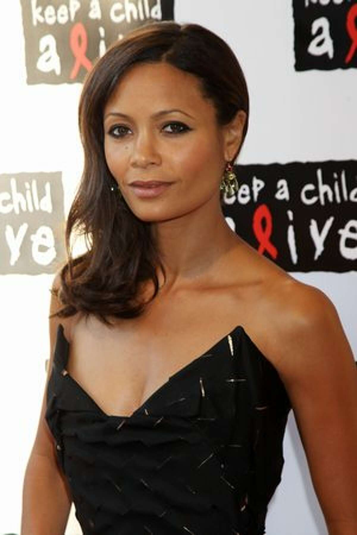 Thandie Newton arrives at the Keep A Child Alive Black Ball held at St John's, Smith Square on May 27 in London, England.