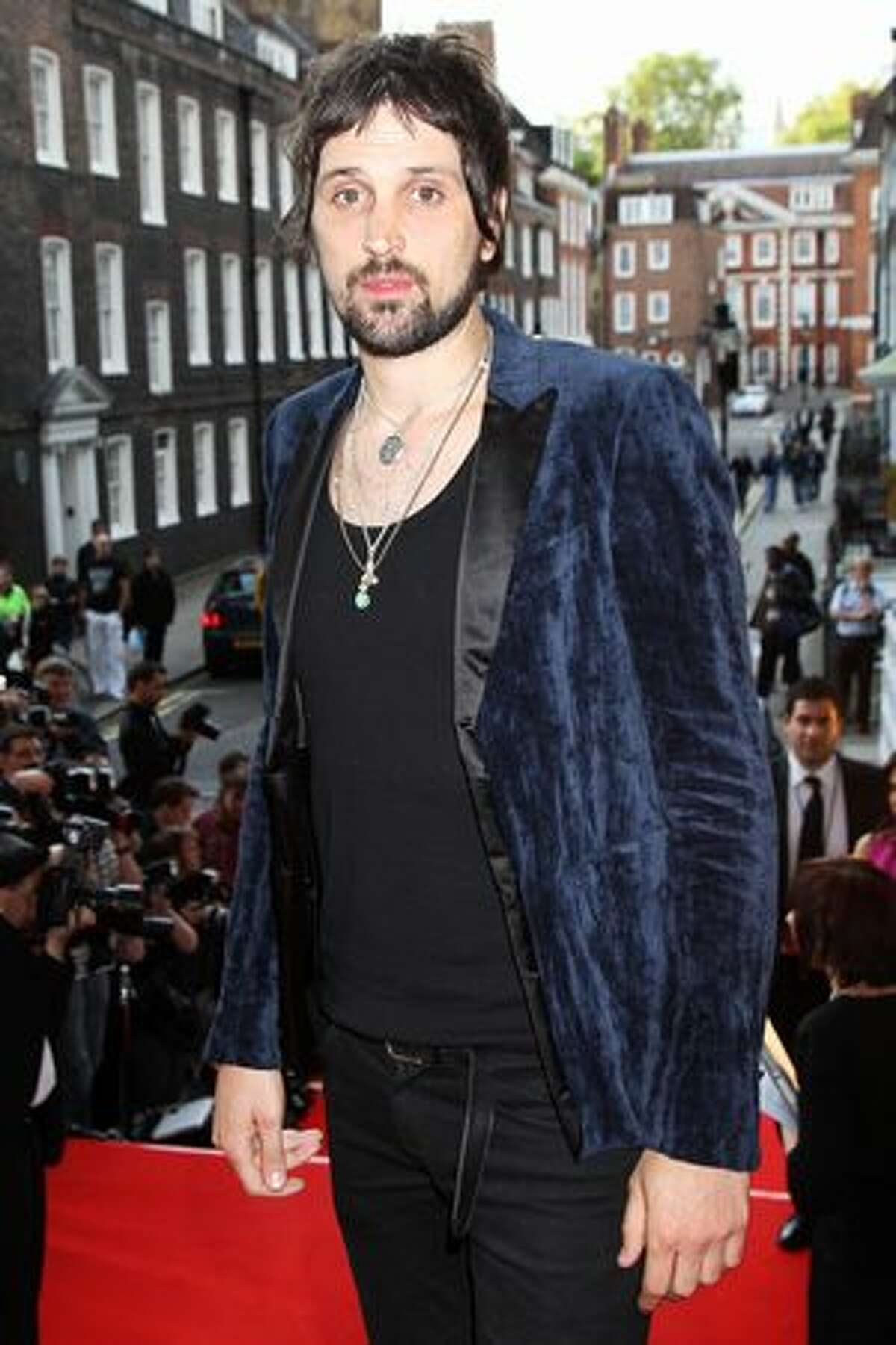 Serge Pizzorno of Kasabian arrives at the Keep A Child Alive Black Ball held at St John's, Smith Square on May 27 in London, England.