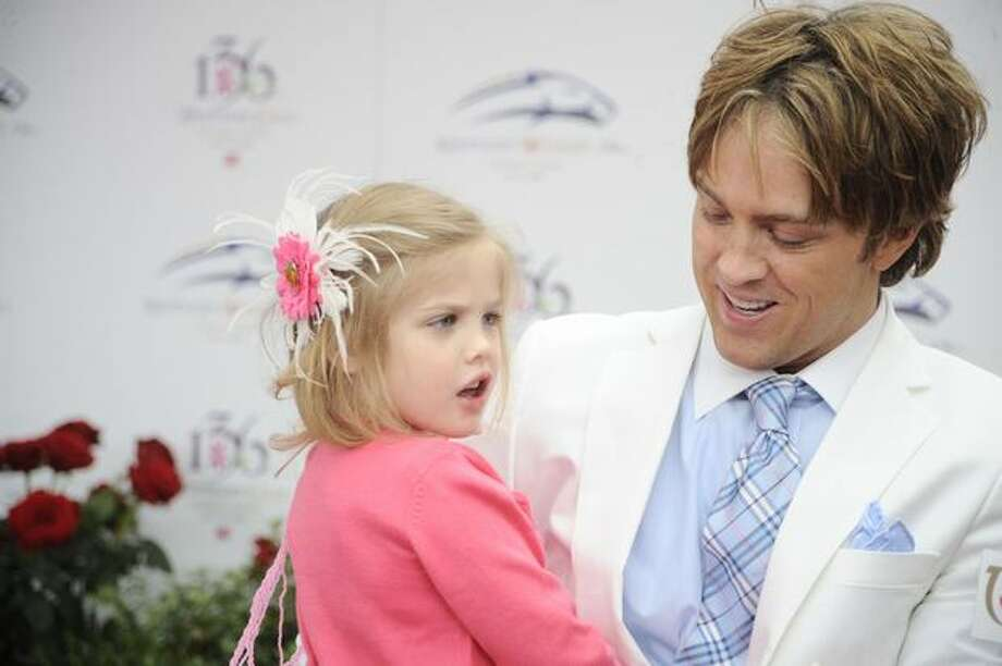 Larry Birkhead and daughter Dannielynn attends the 136th Kentucky Derby in Louisville, Kentucky. Photo: Getty Images