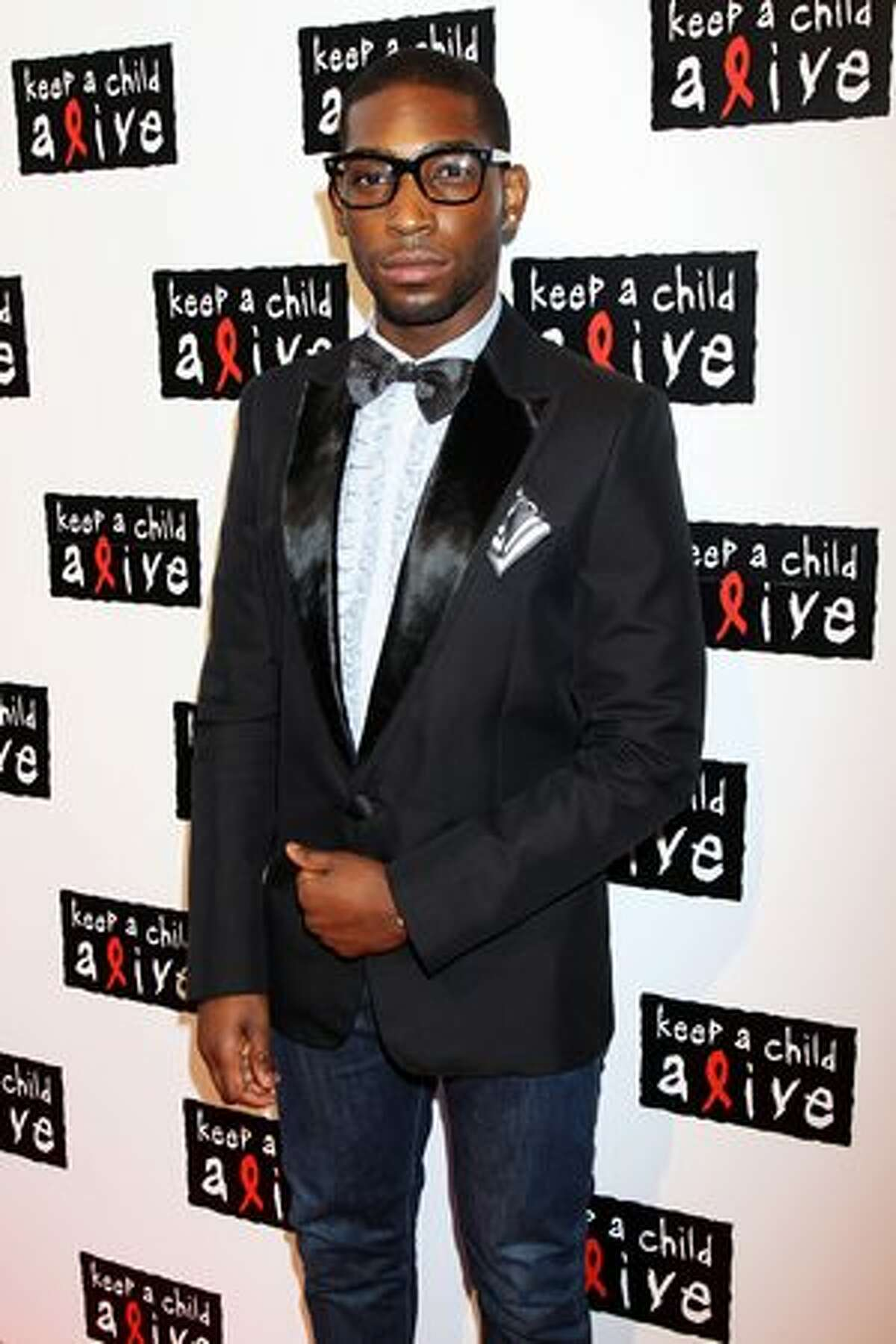 Tinie Tempah arrives at the Keep A Child Alive Black Ball held at St John's, Smith Square on May 27 in London, England.