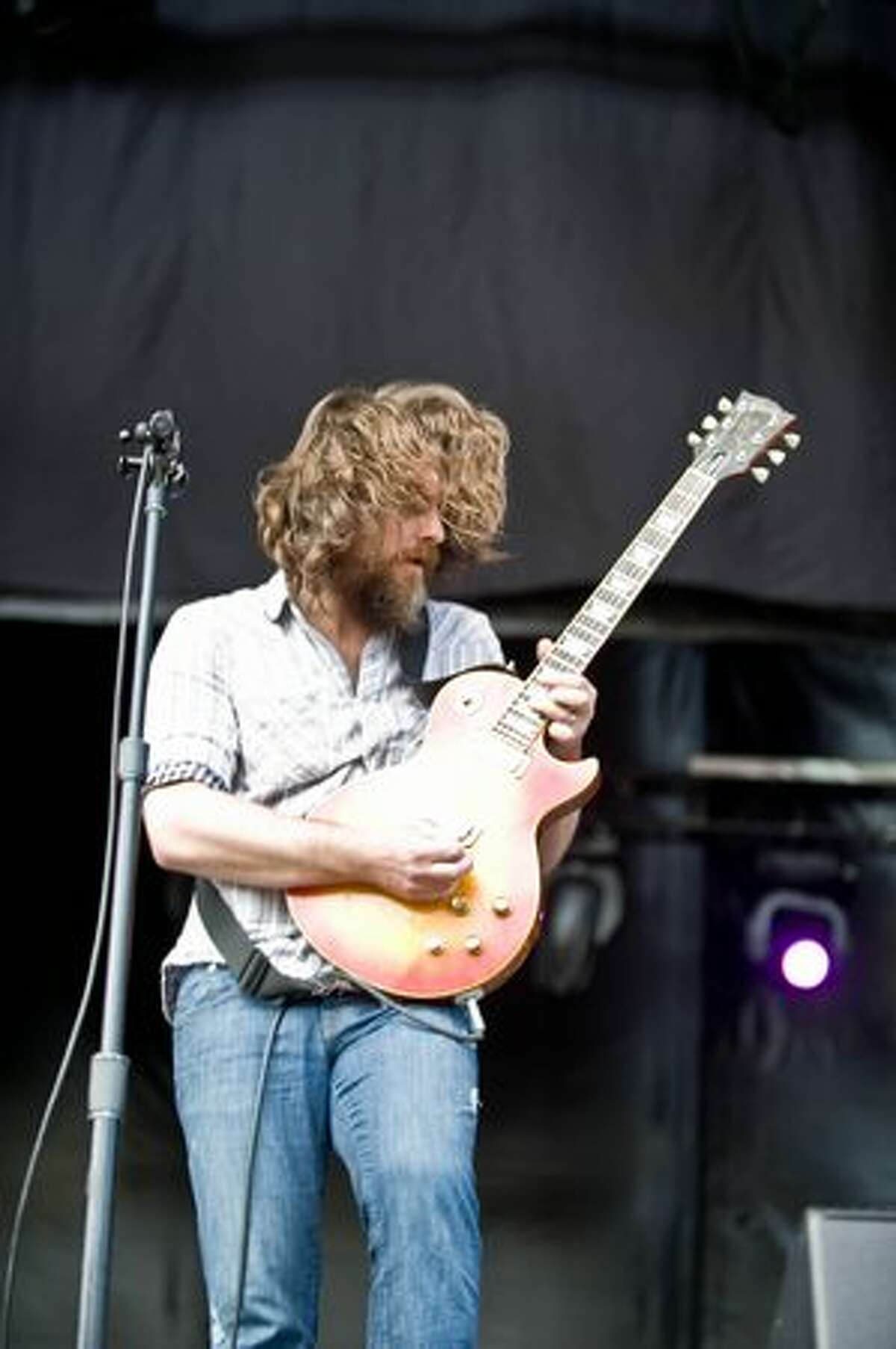Minus the Bear performing at Sasquatch Music Festival on Saturday at the Gorge Amphitheatre.
