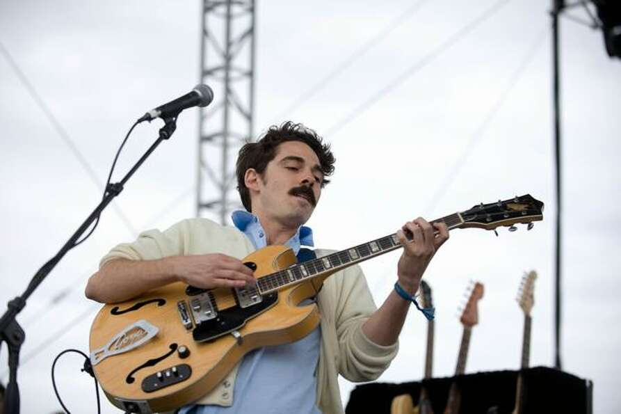 Local Natives performing at the Gorge Amphitheatre on Sunday for the Sasquatch! Music Festival.