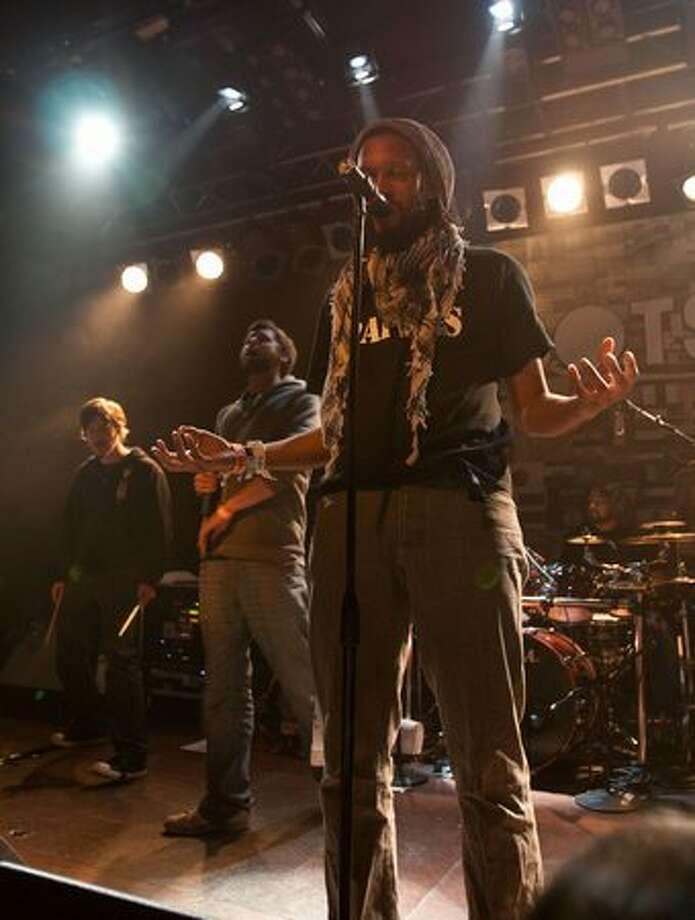 Denver hip-hop/rock group FLOBOTS performing at Neumos on May 9, 2010. Photo: Humberto Martinez, Seattlepi.com