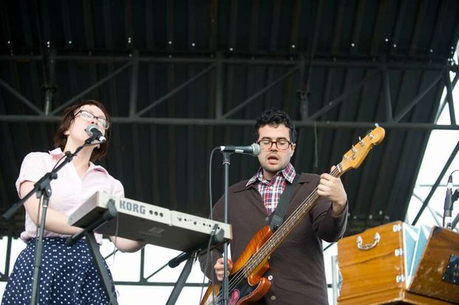 Freelance Whales performing at the Sasquatch! Music Festival on Sunday.