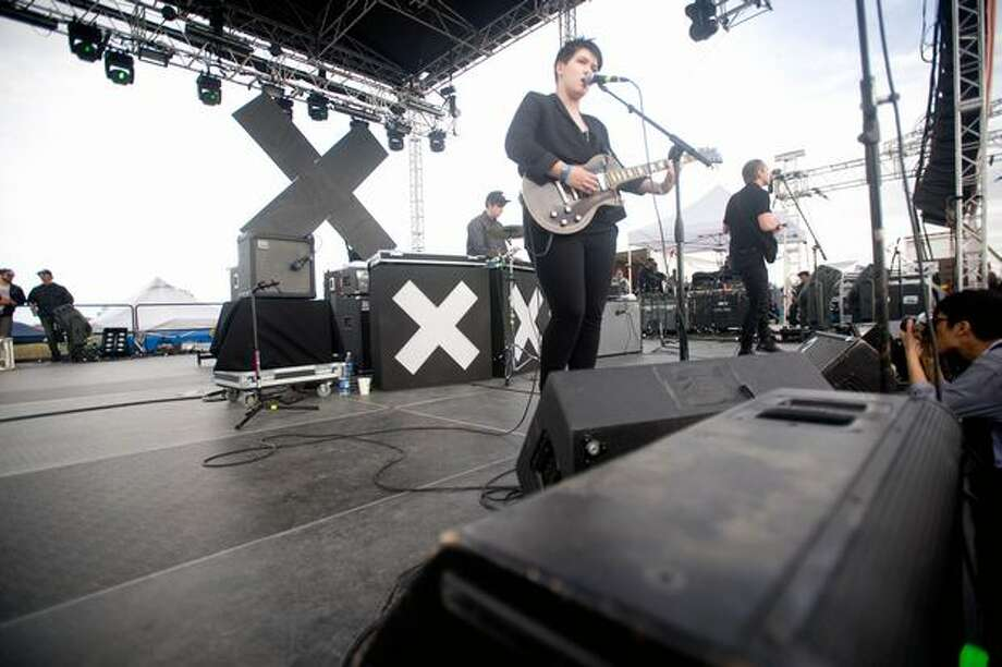 The xx performing at Sasquatch! Music Festival on Sunday. Photo: Chona Kasinger, Seattlepi.com
