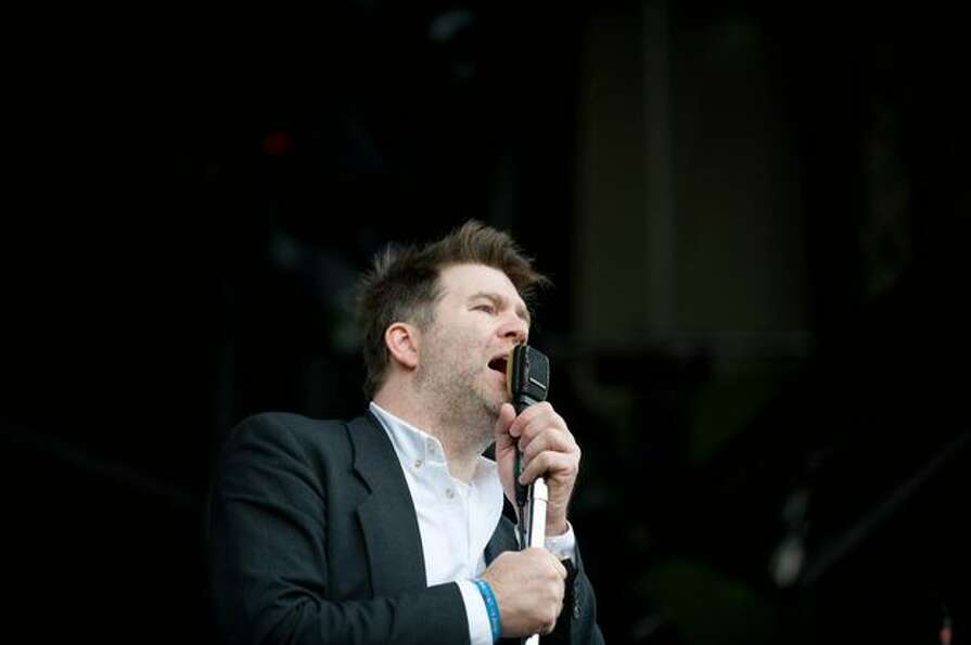 LCD Soundsystem performing at the Sasquatch! Music Festival on Sunday.