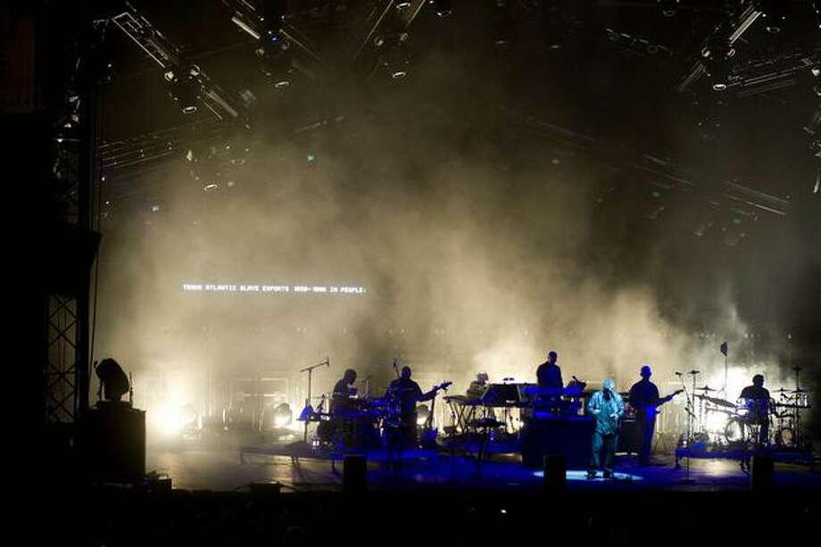 Massive Attack performing at Sasquatch! Music Festival on Sunday at the Gorge Amphitheatre. Photo: Chona Kasinger, Seattlepi.com