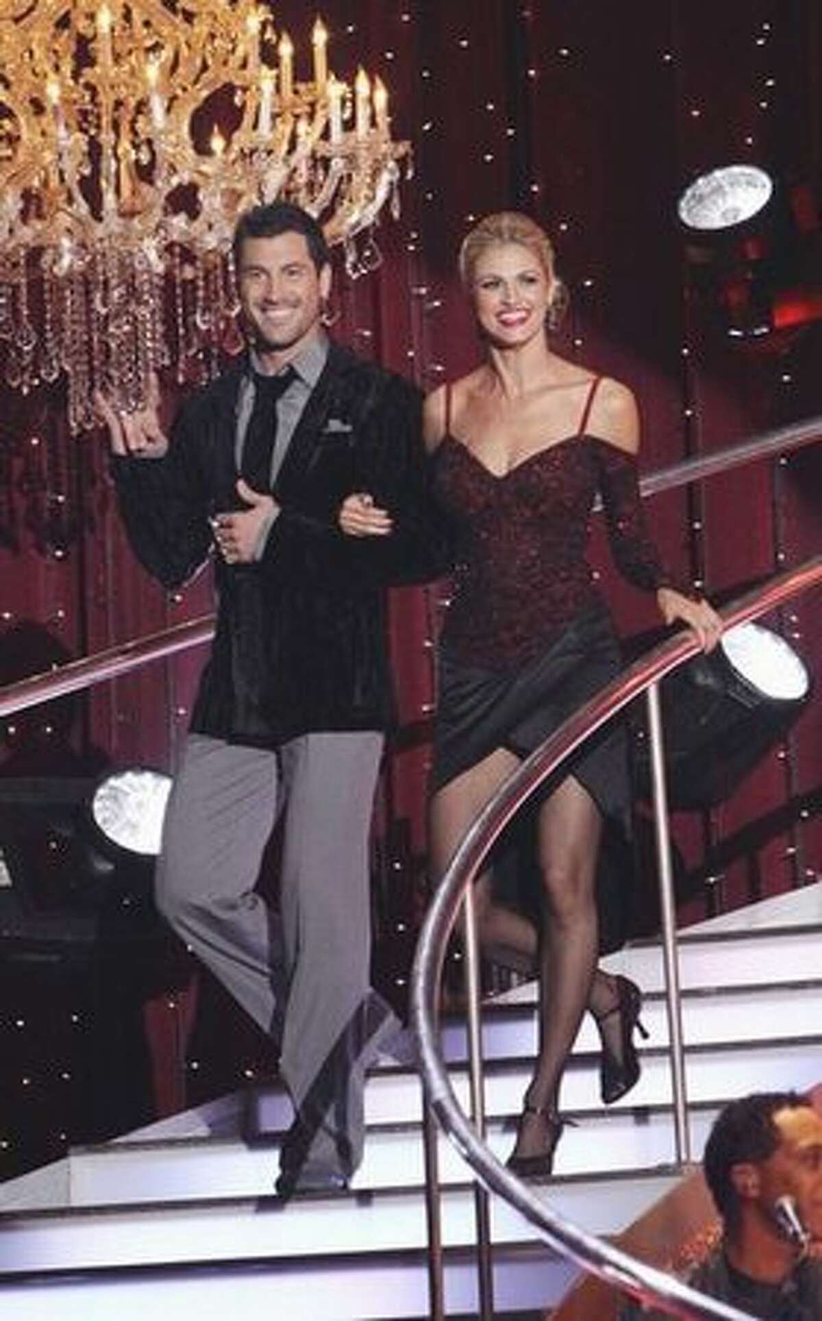 Sportscaster Erin Andrews and her partner, Maksim Chmerkovskiy;