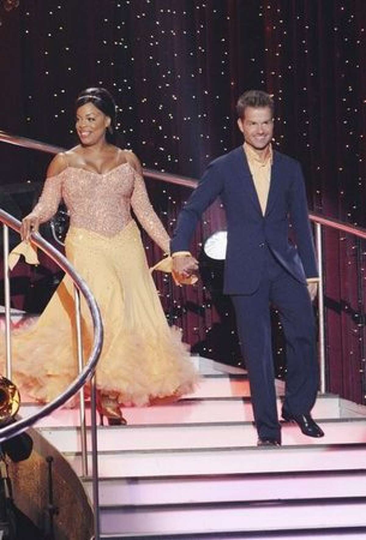 Actress Niecy Nash and her partner, Louis van Amstel;
