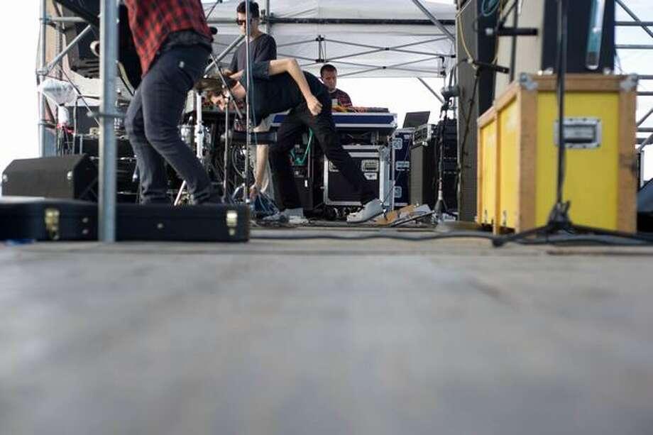 No Age performing at Sasquatch! Music Festival on Monday. Photo: Chona Kasinger, Seattlepi.com