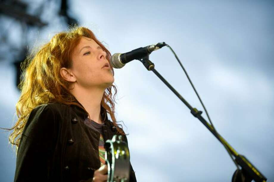 The New Pornographers performing at Sasquatch! Music Festival on Monday. Photo: Chona Kasinger, Seattlepi.com