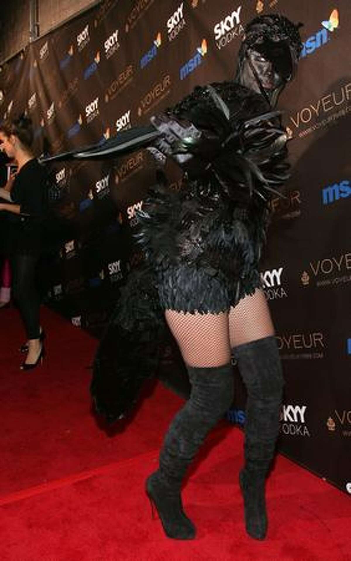 Heidi Klum arrives at the Heidi Klum's 10th Annual Halloween Party in Los Angeles, California.