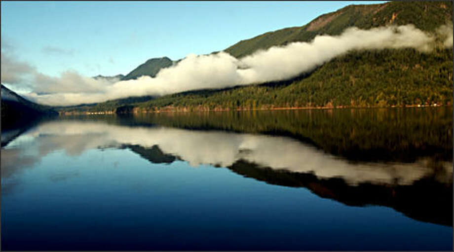 Just another interesting cloud formation over Lake Crescent on the way to Kalaloch in the Olympic National Park. Photo: Jeff Larsen, Special To The Seattle Post-Intelligencer