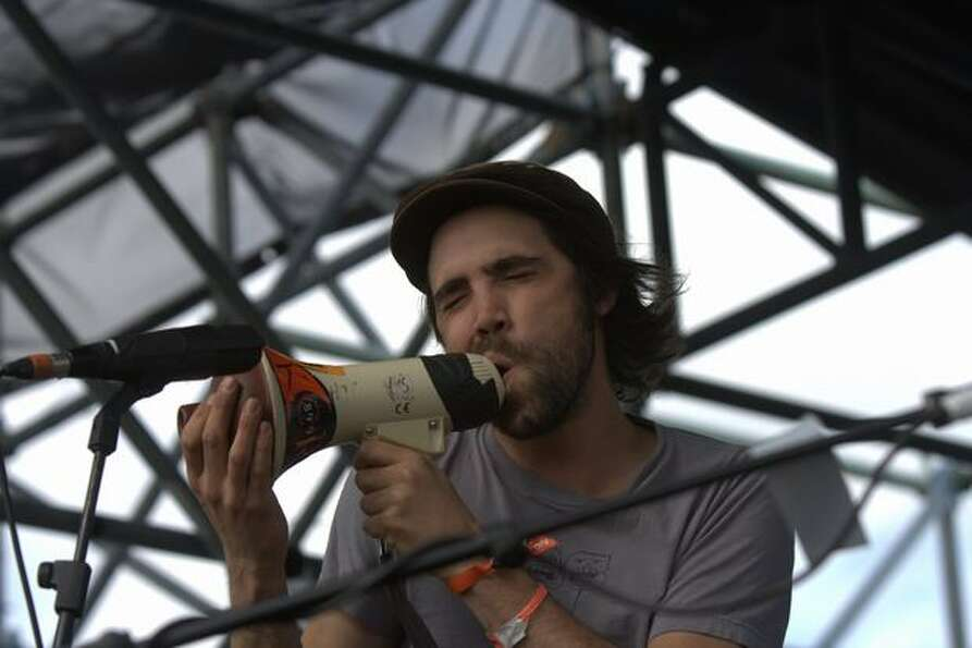 Patrick Watson and his band perform on the Yeti stage at the 2010 Sasquatch! Music Festival on May 2