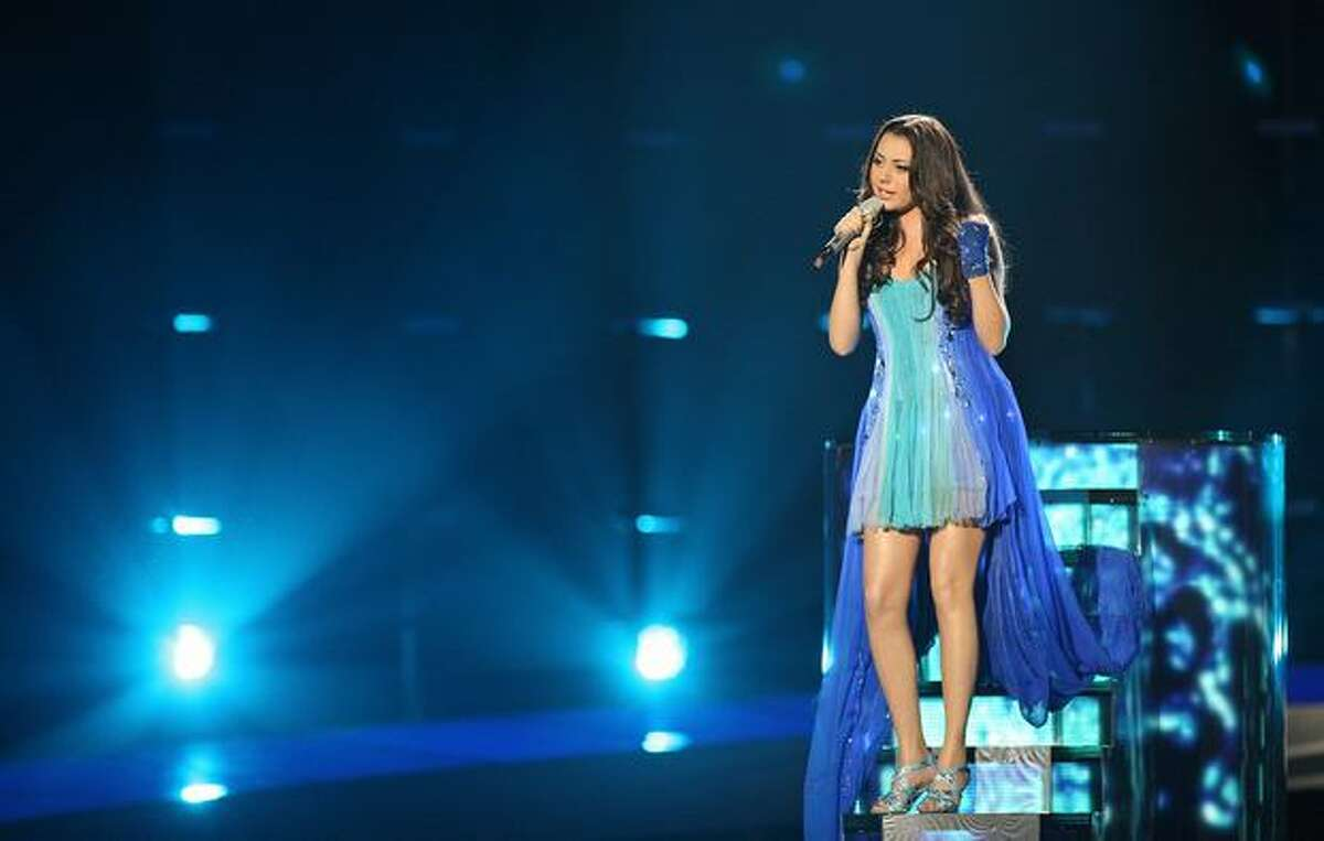 Safura of Azerbaijan performs her song